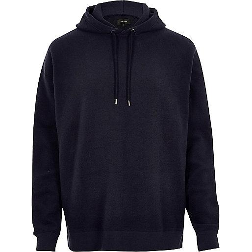 Marineblauer Fleece-Hoodie