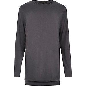 T-shirt long bleu foncé à manches longues