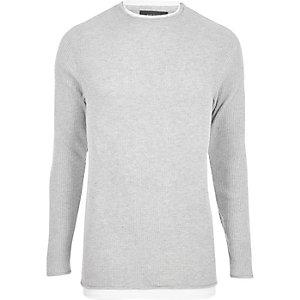 Grey double layer tunic