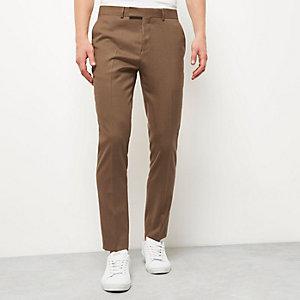 Pantalon skinny camel