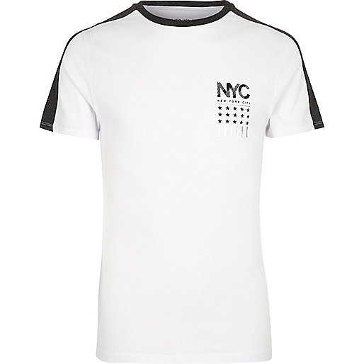 White NYC print T-shirt