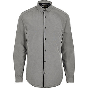 Grey penny collar shirt