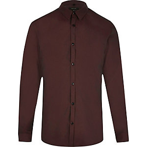 Red slim fit tonic shirt