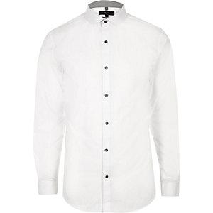 Weißes, formelles Slim Fit Hemd