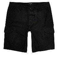 Schwarze Cargo-Shorts mit lässiger Passform