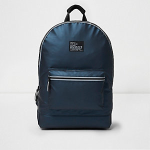 Blue reflective backpack