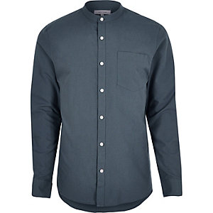 Light blue smart grandad shirt