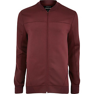 Burgundy soft bomber jacket