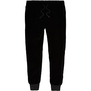 Pantalon de jogging en velours noir
