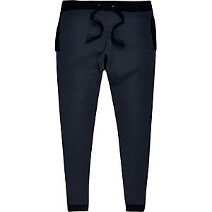 Pantalon de jogging bleu marine style sport