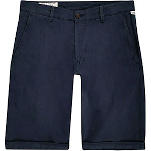 Franklin & Marshall – Blaue Skinny Fit Shorts