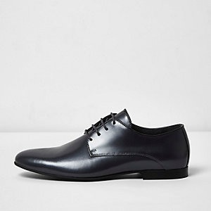 Dark grey smart leather shoes