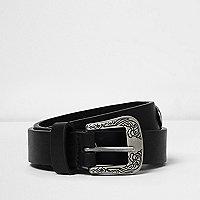 Black embellished Western belt