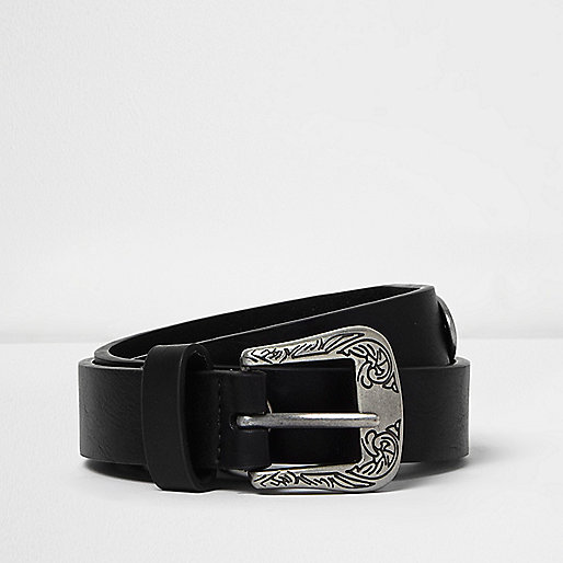 Black embellished Western belt