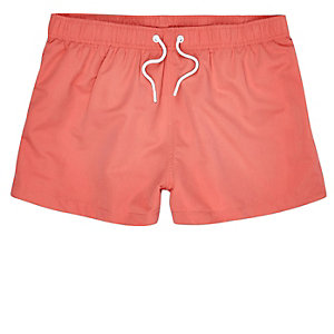 Coral slim fit swim trunks