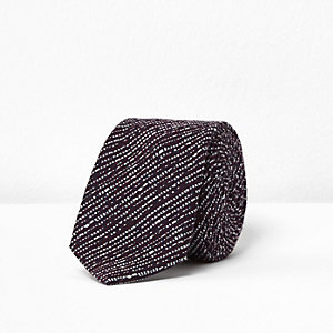 Purple contrast textured tie
