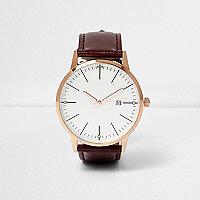 Klassische Armbanduhr in Bordeaux