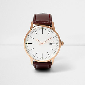 Burgundy classic watch