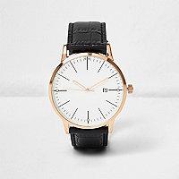 Armbanduhr in Krokooptik