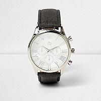 Graue, klassische Armbanduhr