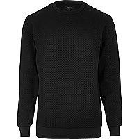 Black textured sweatshirt