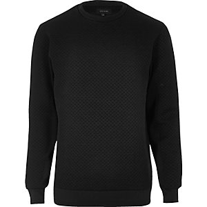 Black textured sweatshirt