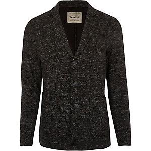 Dark grey Jack & Jones flecked jersey blazer