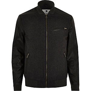 Dark grey Jack & Jones Premium bomber jacket
