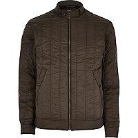 Dark green Jack & Jones Vintage biker jacket