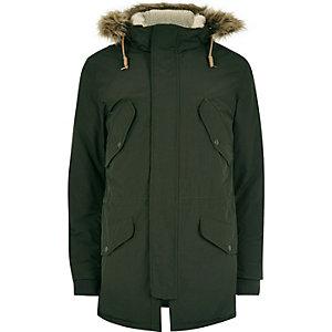 Green Jack & Jones Vintage hooded parka