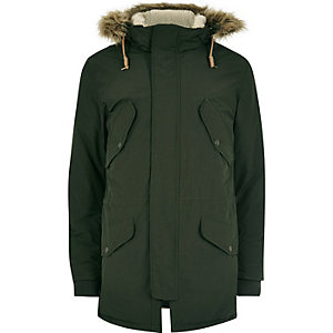 Green Jack & Jones Vintage hooded parka