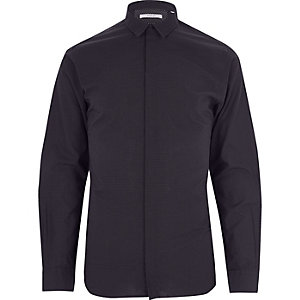 Black print Jack & Jones smart shirt