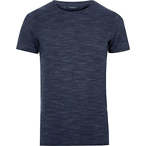 Navy Jack & Jones marl T-shirt
