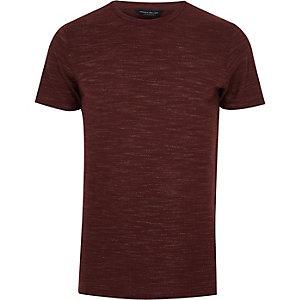 Burgundy Jack & Jones marl T-shirt