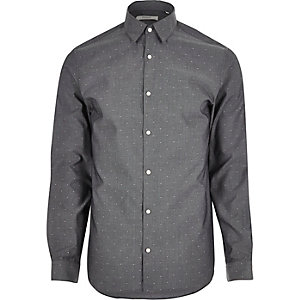 Dark grey Jack & Jones Premium smart shirt