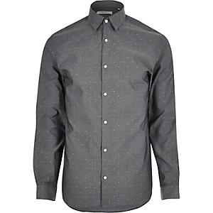 Chemise Jack & Jones Premium habillée gris foncé