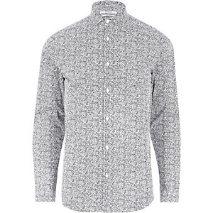 Navy and white Jack & Jones print shirt