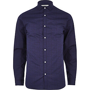 Blue print Jack & Jones smart shirt