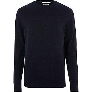 Navy Jack & Jones knit crew neck sweater