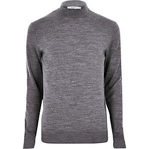 Jack & Jones – Grau melierter Pullover