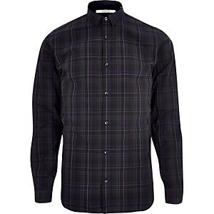 Navy Jack & Jones check shirt