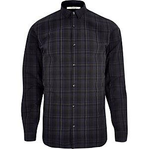 Navy Jack & Jones check shirt