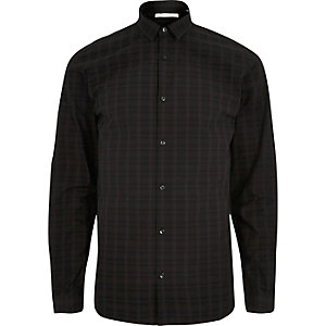 Dark red Jack & Jones check shirt