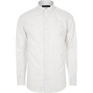 White print Jack & Jones smart shirt