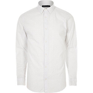 White print Jack & Jones smart shirt