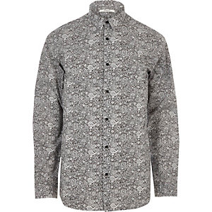 Black paisley print Jack & Jones shirt