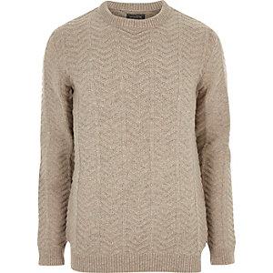 Stone chunky knit Jack & Jones jumper