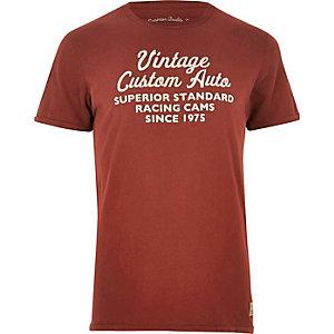 Red Jack & Jones Vintage print T-shirt