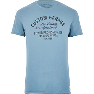 Blue Jack & Jones Vintage print T-shirt