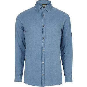 Blue textured Jack & Jones Vintage shirt